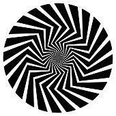 Op Art Spiral Swirl