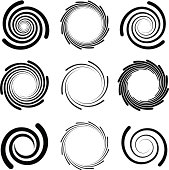 Op Art Swirl Patterns with Rounded Edges