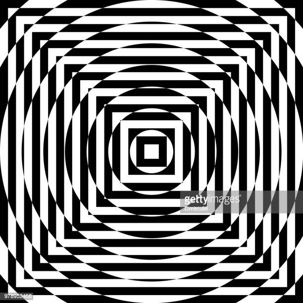 op art - optical illusion stock illustrations