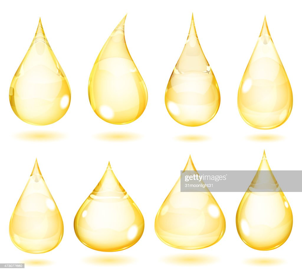 Opaque yellow drops