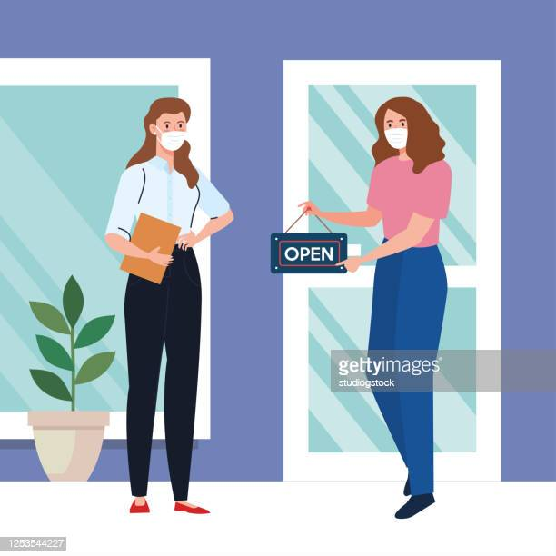 open again after quarantine women with
