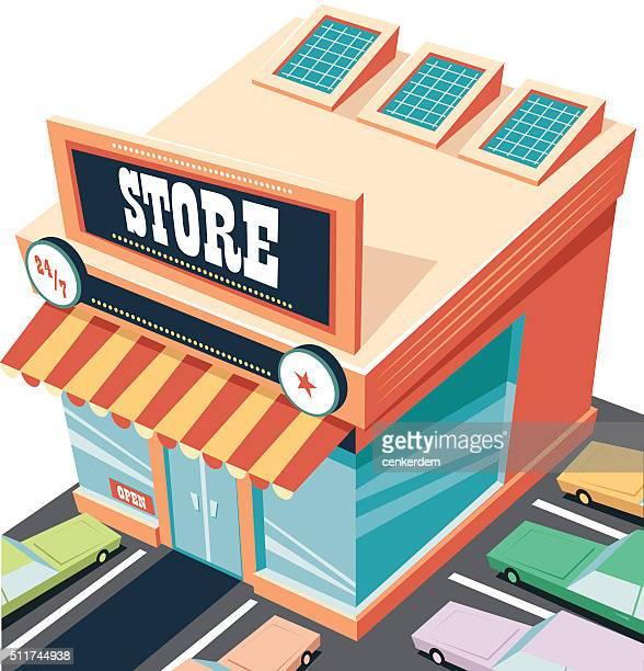 ilustrações, clipart, desenhos animados e ícones de aberto todas as noites loja - livraria