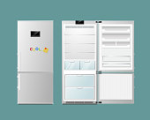 Open and close refrigerator