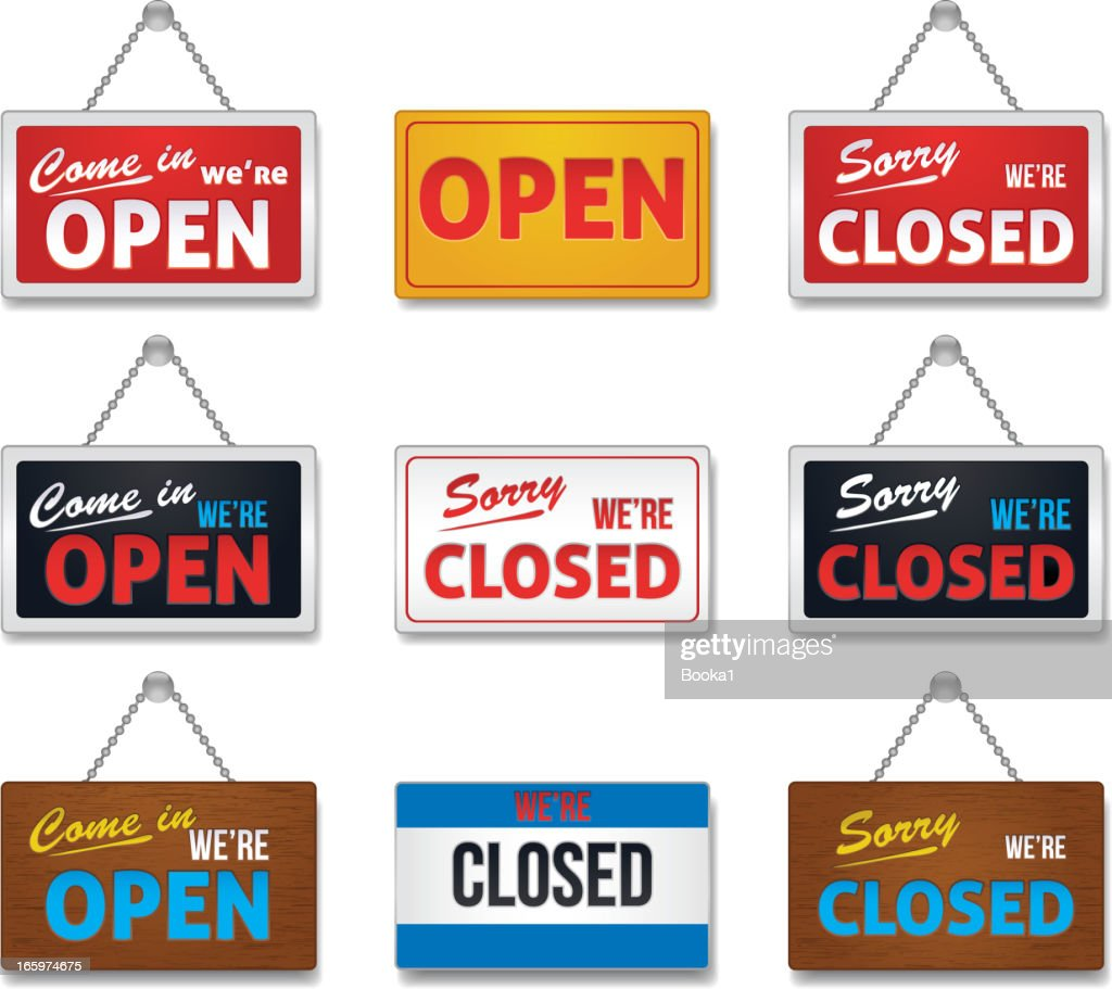 Open and close sign-collection