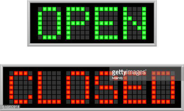 open and closed led board - pastry lattice stock illustrations, clip art, cartoons, & icons