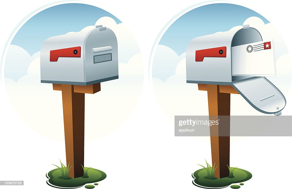 Open And Closed Mailboxes Vector Art Getty Images
