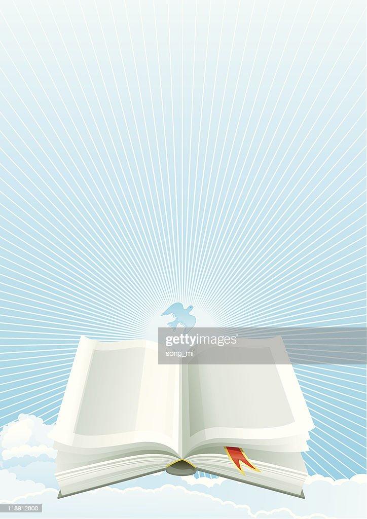 Open Bible at heaven
