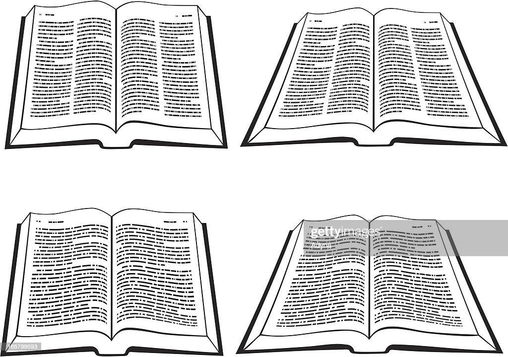 Open Bible : stock illustration