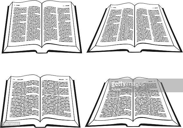 ilustrações, clipart, desenhos animados e ícones de aberto bíblia - bíblia