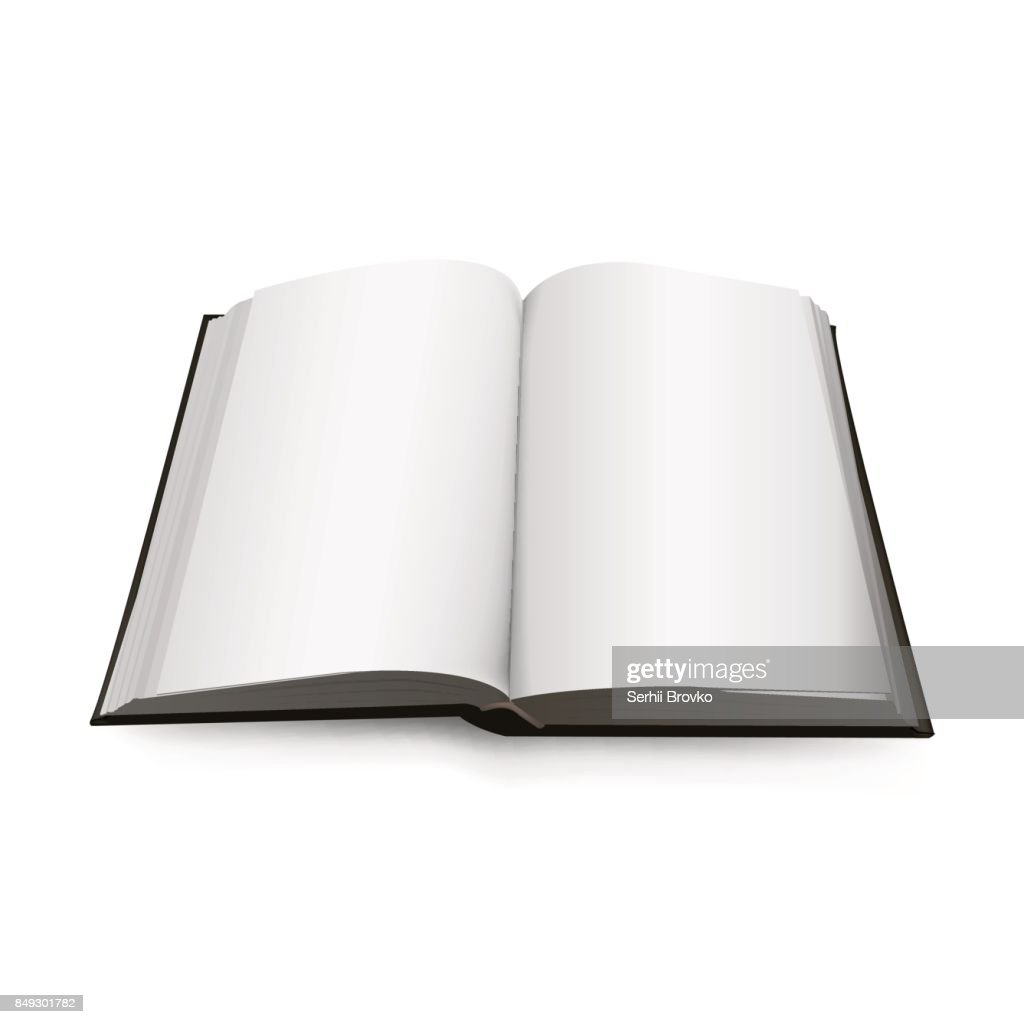 Open Book 3d isolated on background. Vector illustration.