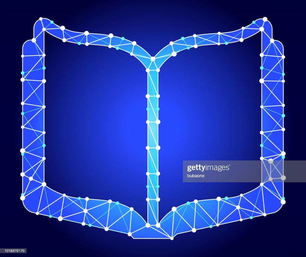 Livre Ouvert Triangle Bleu Noeud Vector Pattern Illustration