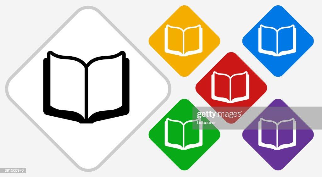 Icone Representant Un Livre Ouvert Couleur Diamant Vector