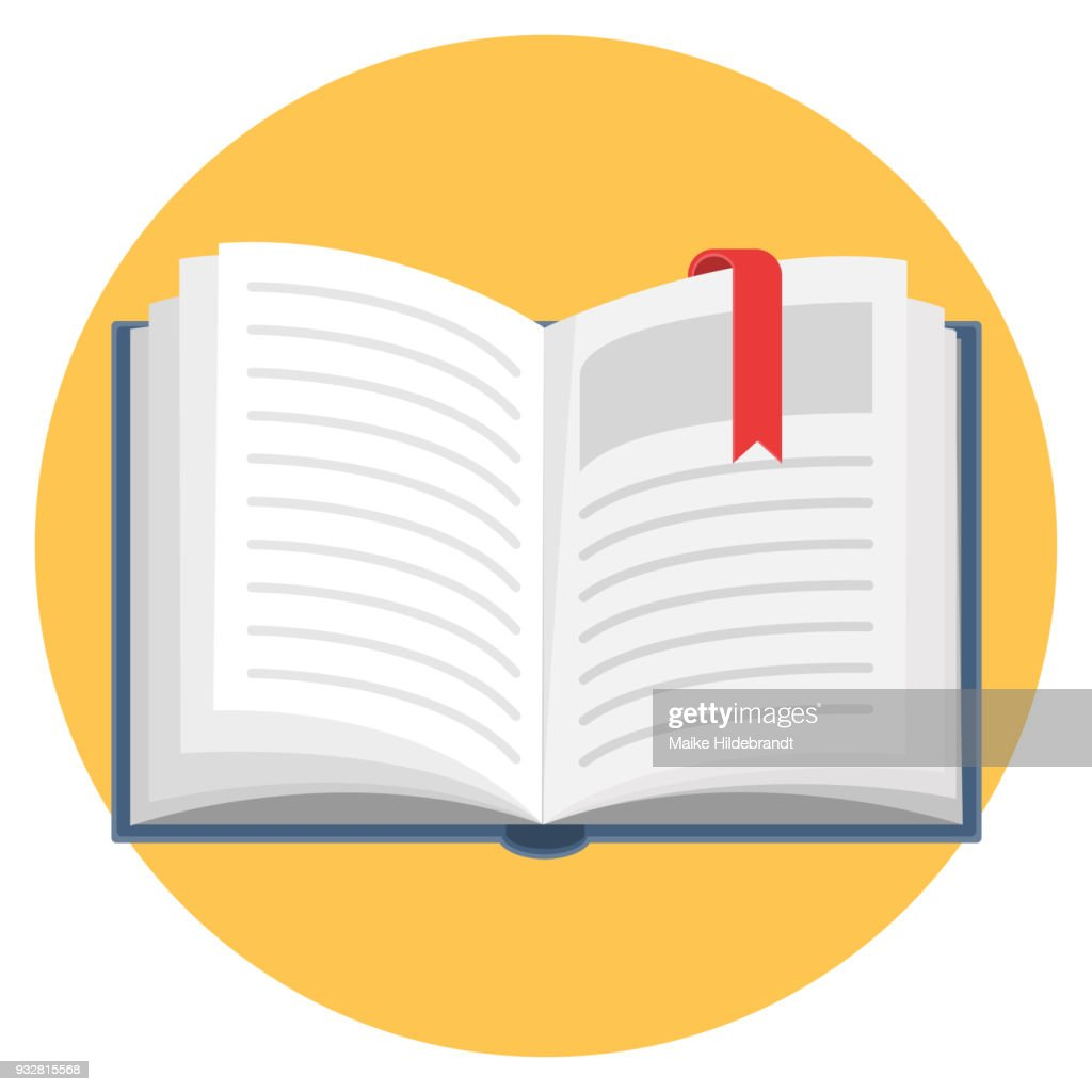 Open Book Flat Design Icon
