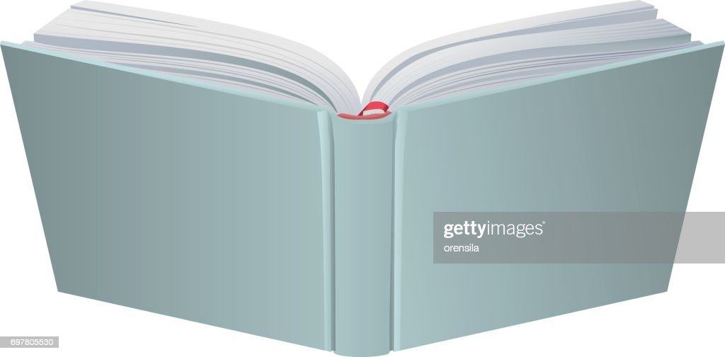 Open book hardcover 3d realistic vector illustration