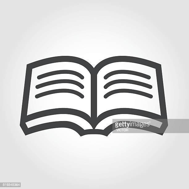 オープンブックのアイコン(象徴的なシリーズ