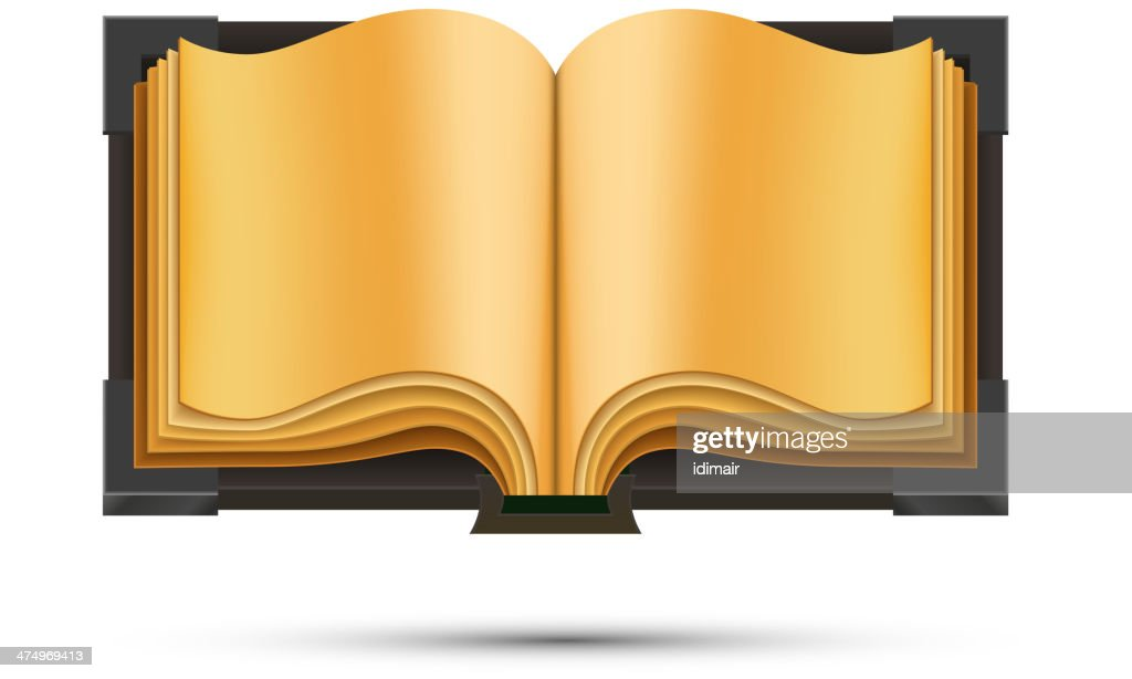 Open Book isolated on white background. Vector