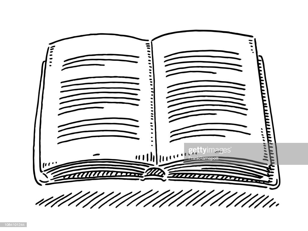 Open Book Reading Drawing High Res Vector Graphic Getty Images