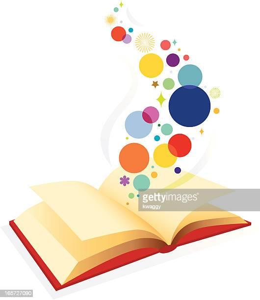 ilustraciones, imágenes clip art, dibujos animados e iconos de stock de libro abierto - historia