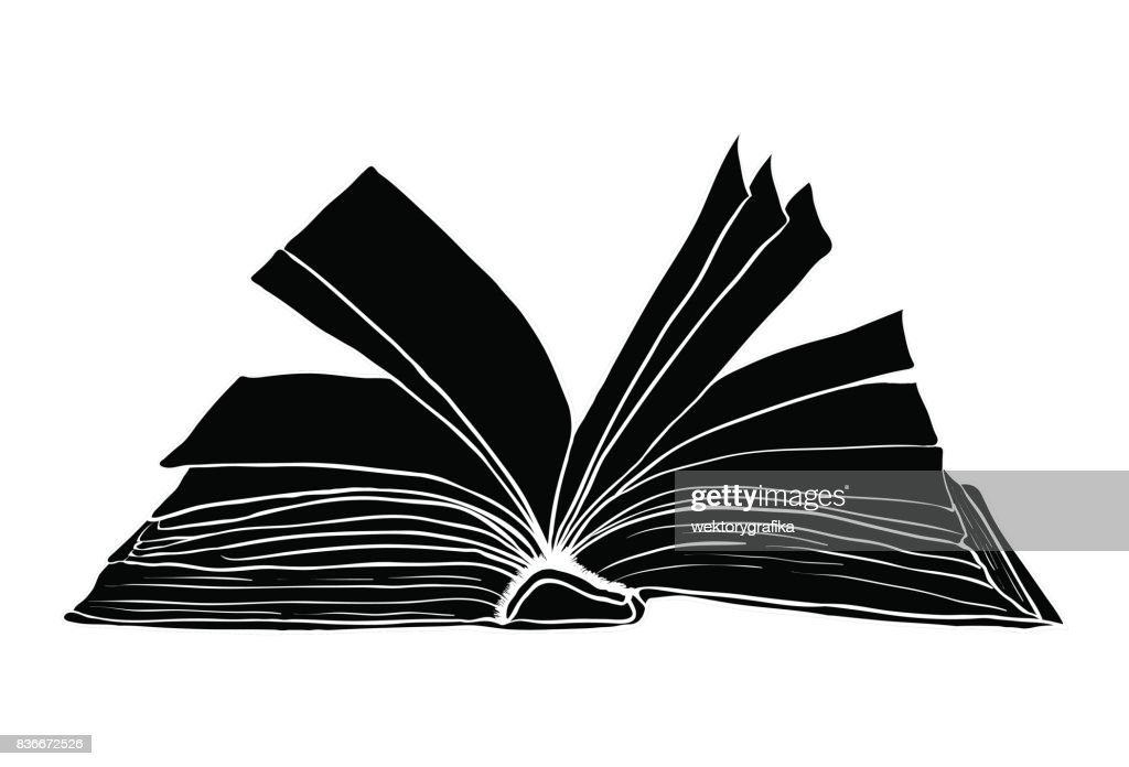 open book vector symbol icon design. Beautiful illustration isolated on white background