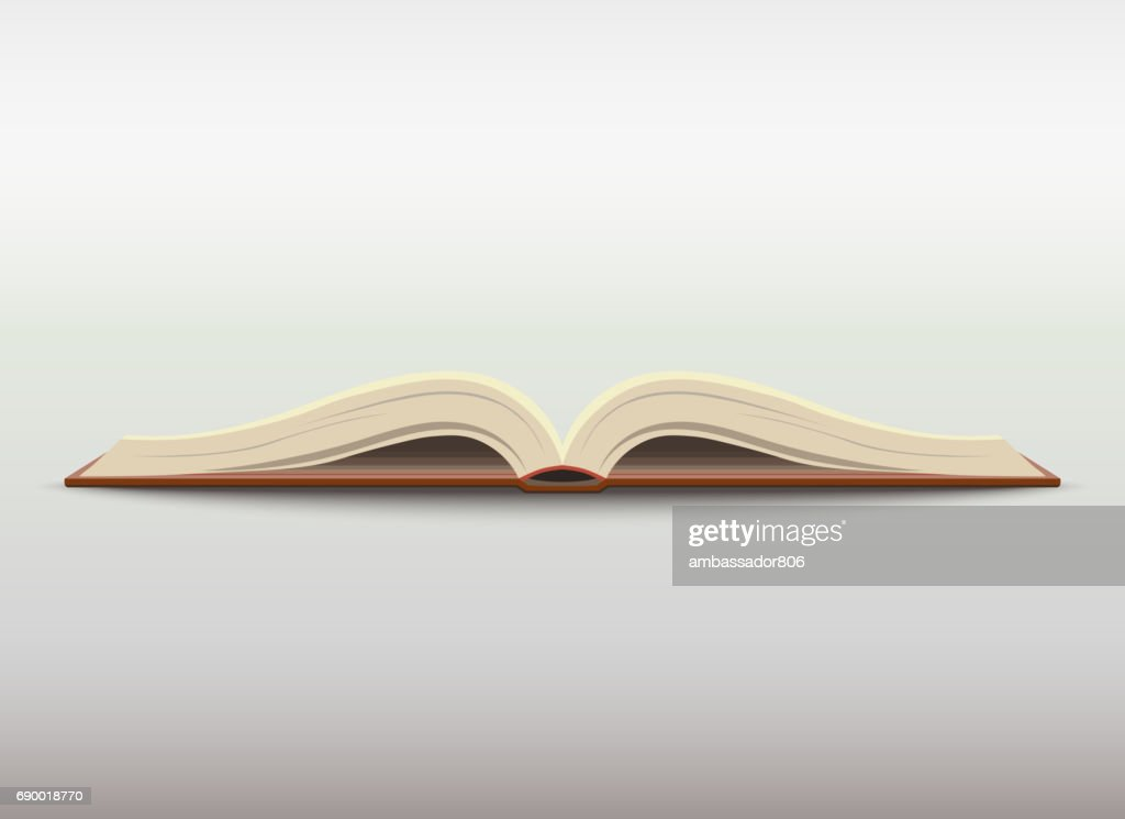 Open book. vector