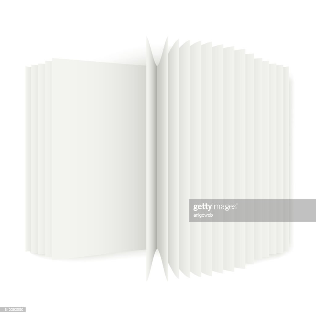 Open book with pages mockup