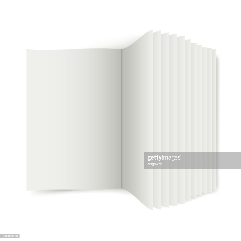 Open book with pages