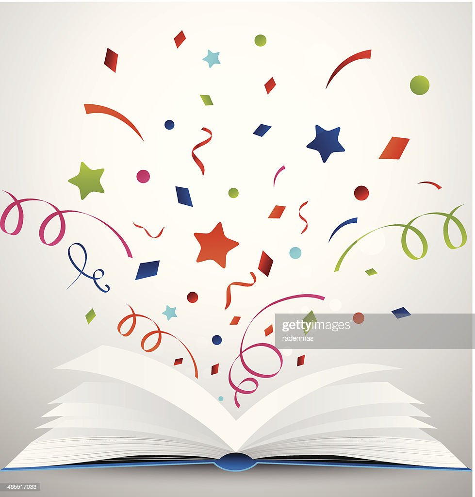 open book with ribbon
