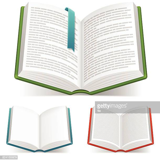 open books - open stock illustrations
