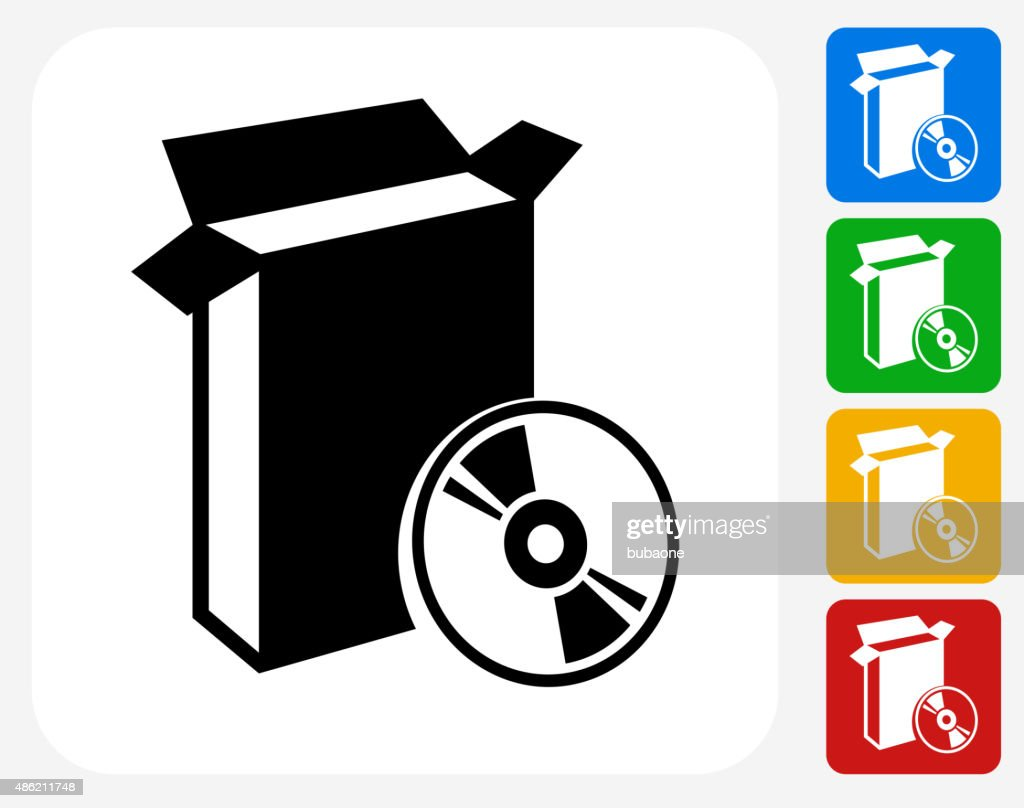 Open box and cd icon flat graphic design vector art getty images open box and cd icon flat graphic design vector art biocorpaavc Choice Image
