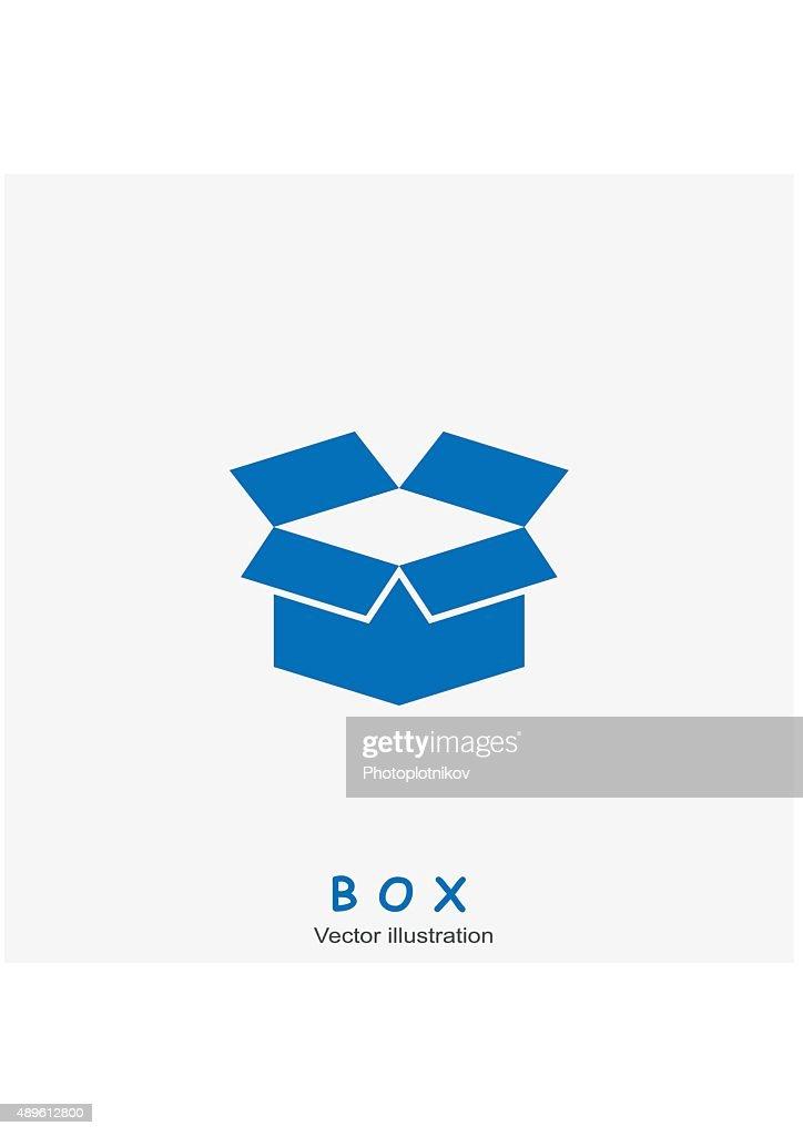 Open box icon. Vector illustration.