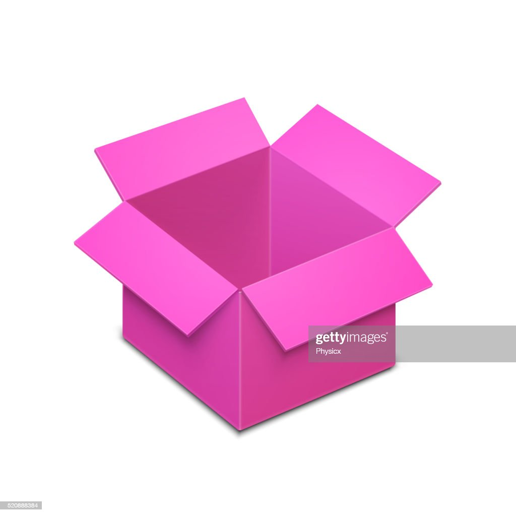 Open Box Template Vector Art
