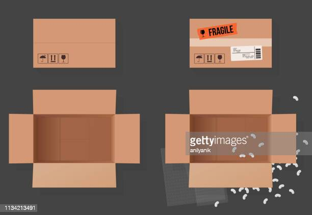 open box - brown stock illustrations
