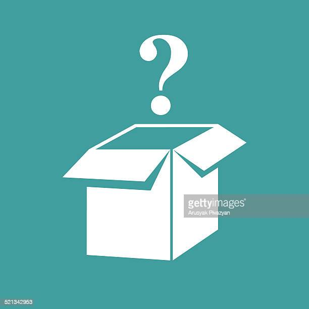Open box with a question mark