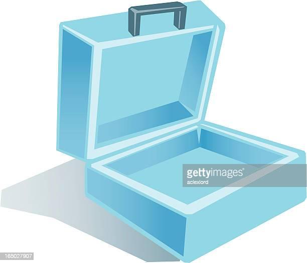Open briefcase