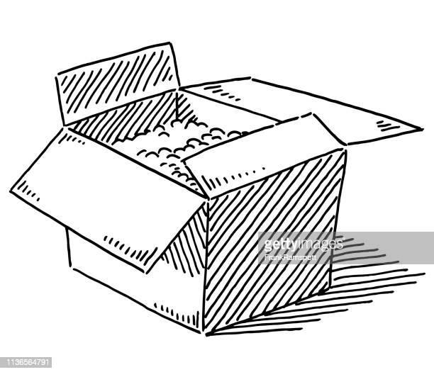 Offene Kartonverpackung