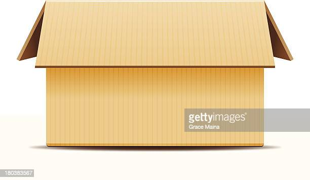 Open Cardboard Box - VECTOR