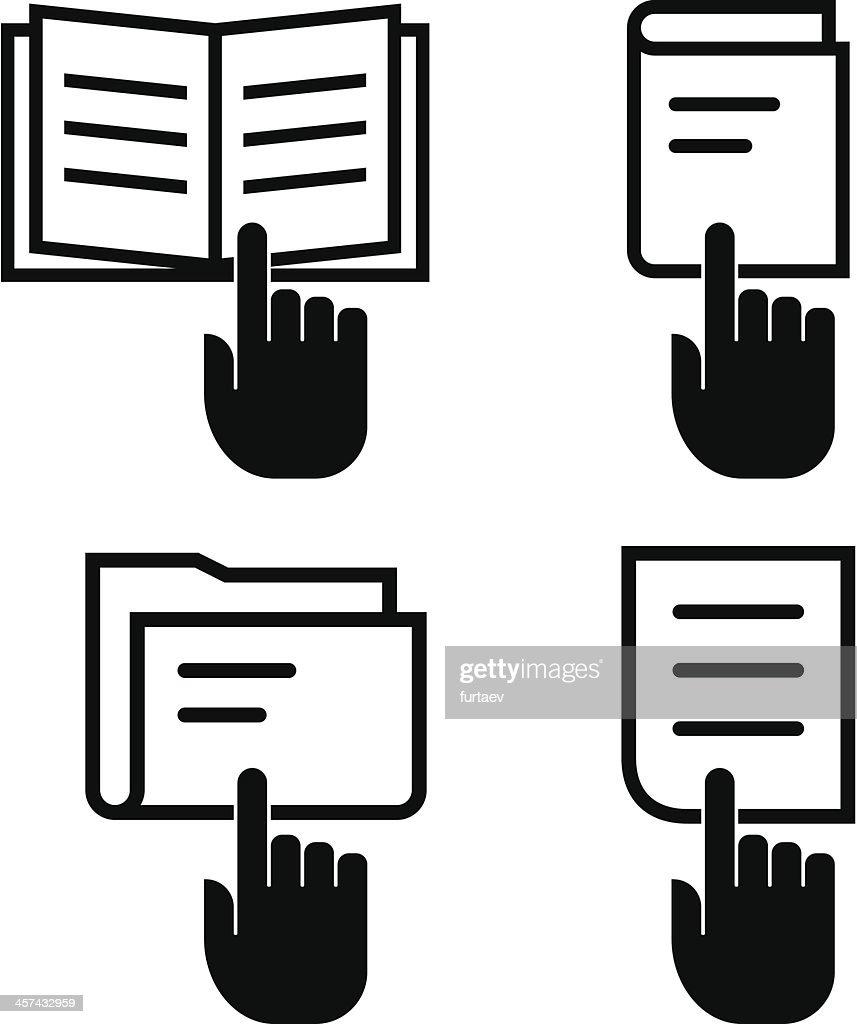 Open document icon set