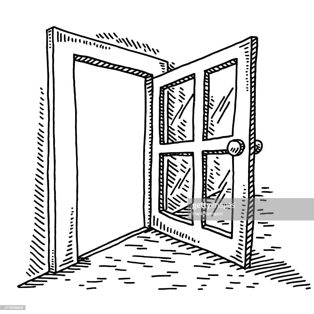 Open Door Drawing  Vector Art  sc 1 st  Getty Images & Open Door Drawing Vector Art | Getty Images