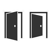 Open Door Icon Vector Design.