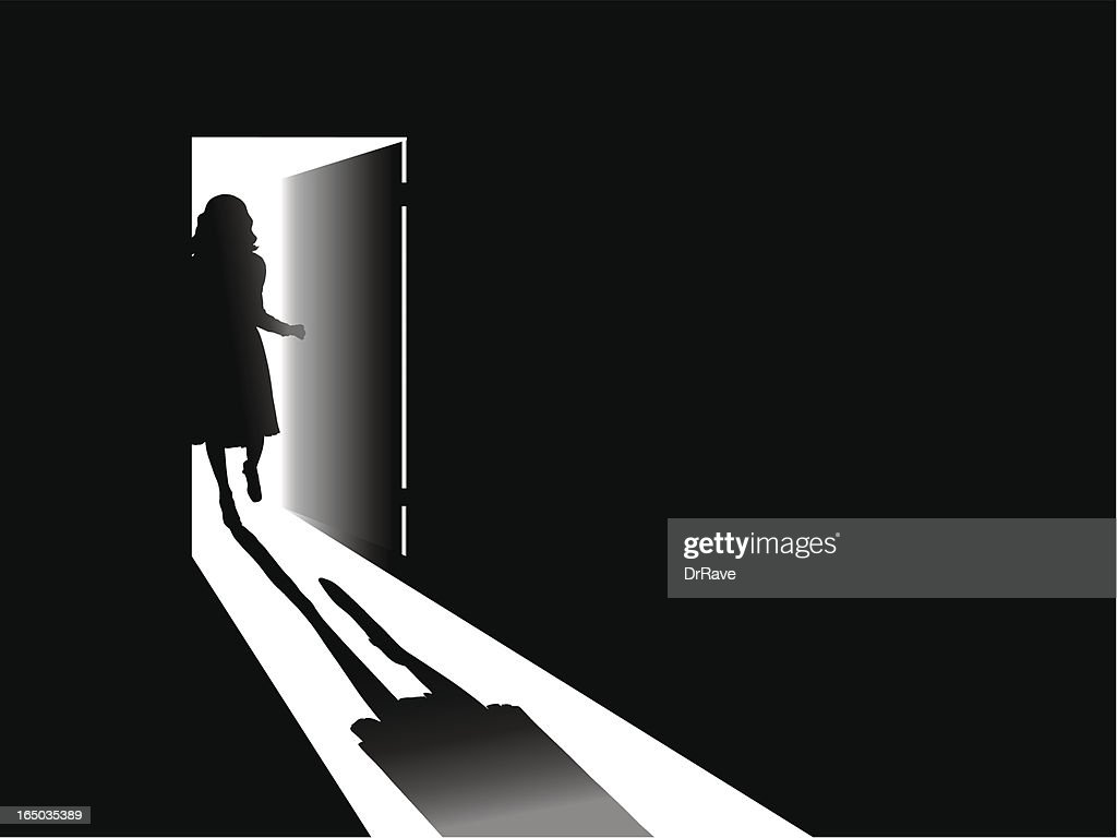 Open door !!! : stock illustration