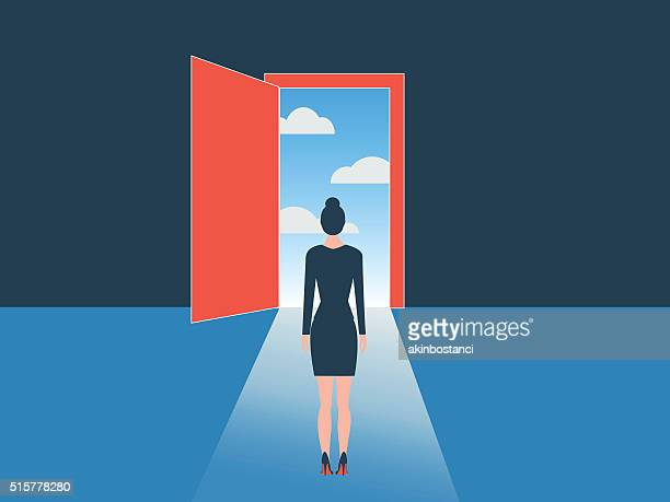 open door - leaving stock illustrations