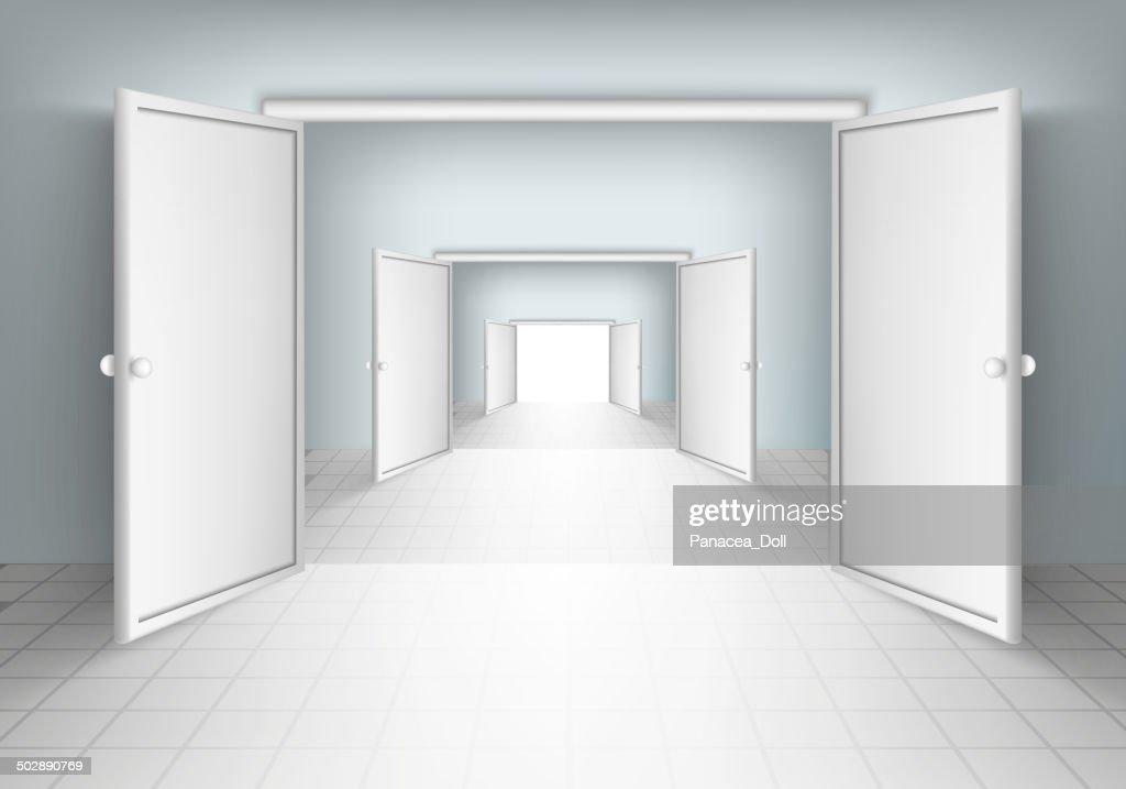 open doors in rooms
