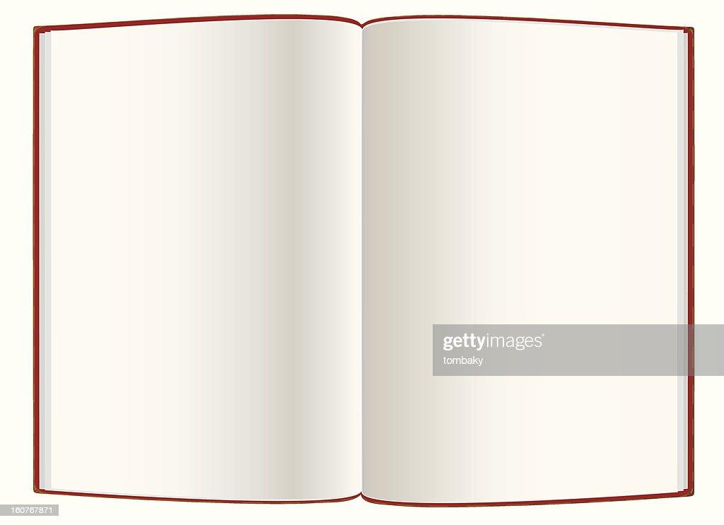 Open empty  hardcover book