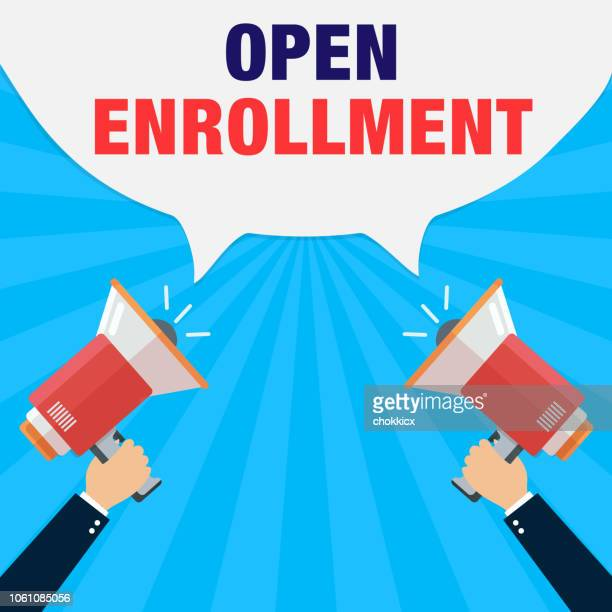 open enrollment - open stock illustrations