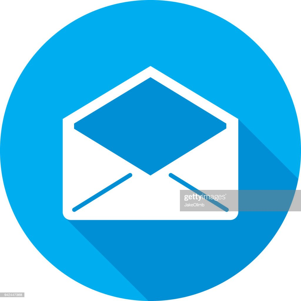 Open Envelope Icon Silhouette High-Res Vector Graphic