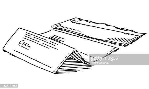 Unverschlossenen Umschlag schreiben Korrespondenz Zeichnung
