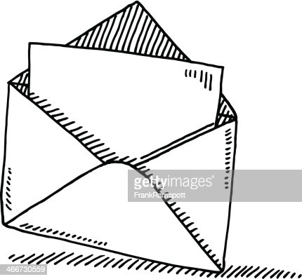 open envelope letter symbol drawing vector art getty images