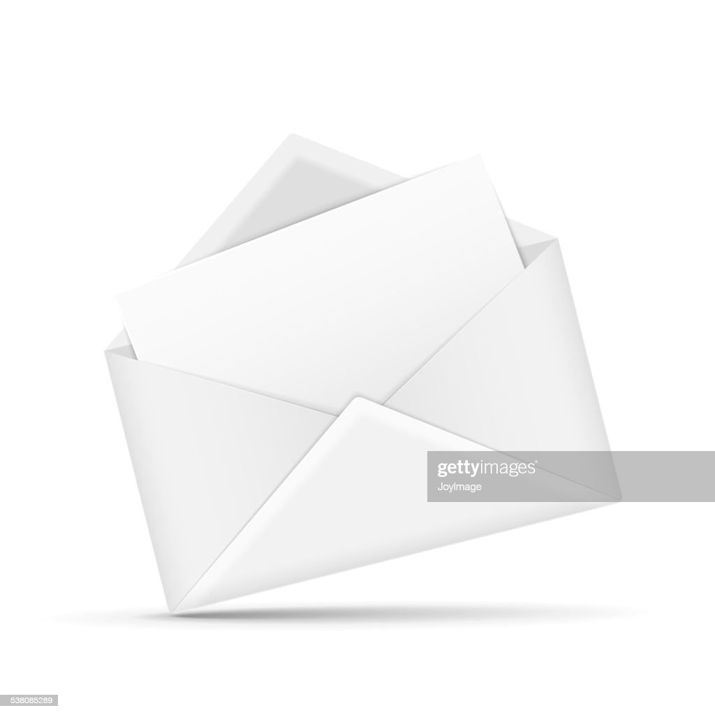 open envelope with letter vector art | getty images