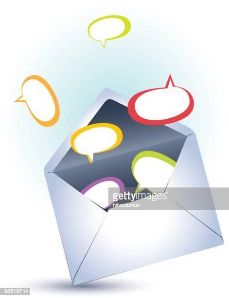 Open envelope with speech bubbles