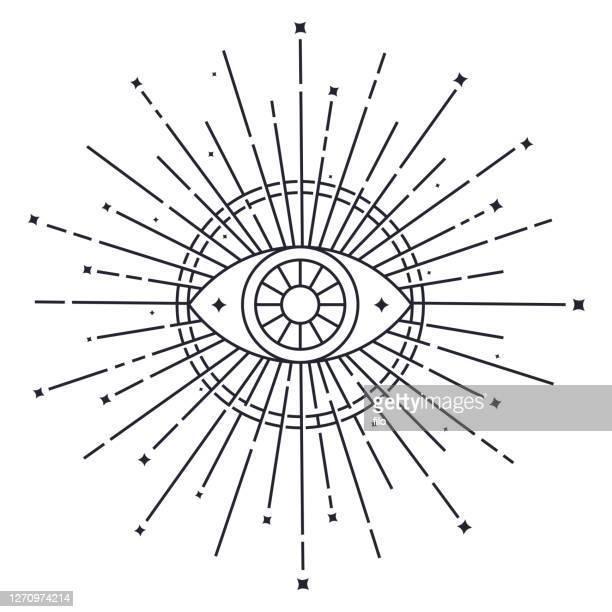 open eye symbol - mystery stock illustrations